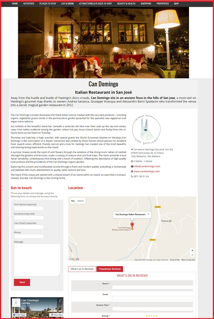 Sales Page Example when Advertise with us What's on in Ilfracombe.com